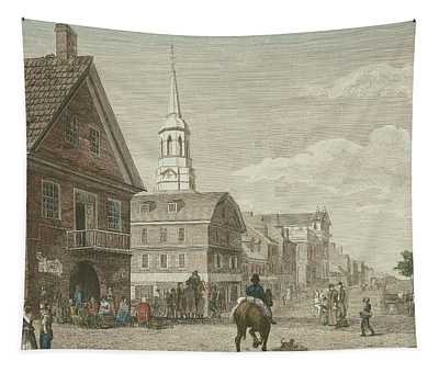 Second Street North From Market St. And Christ Church Tapestry