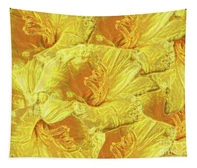 Selective Yellow Lilies Tapestry