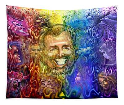 Self Portrait As Interwoven Spectrum Of Emotions Tapestry