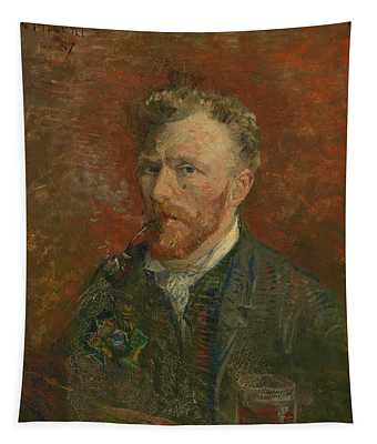 Self-portrait With Glass Tapestry