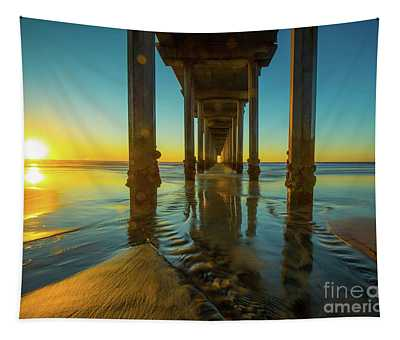 Serenity In San Diego Sunset 2 Tapestry