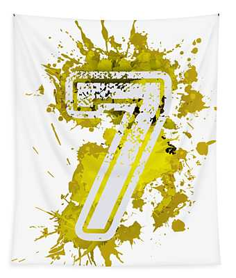 Seven Over Yellow Stain Tapestry