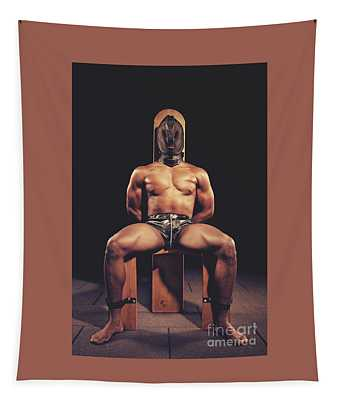 Sexy Man Tiedup On A Bdsm Chair Tapestry