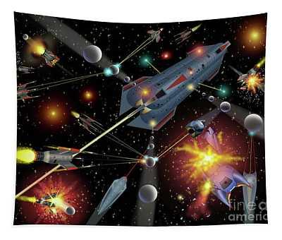 Sferogyls Space Battle Group Tapestry