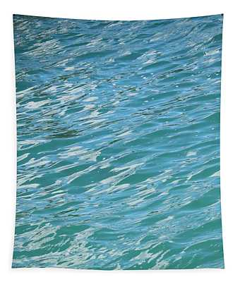 Shades Of Tropical Blue Water Tapestry