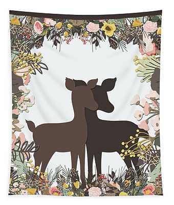 Shadowbox Deer Tapestry