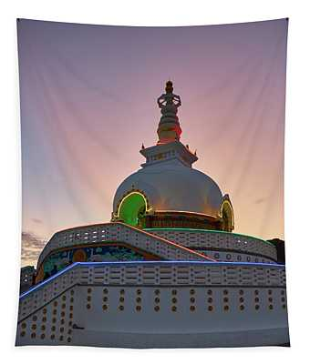 Tapestry featuring the photograph Shanti Stupa by Whitney Goodey