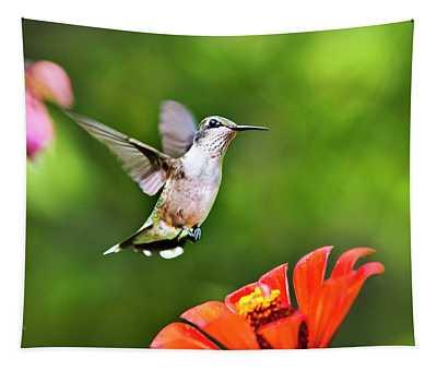 Shimmering Breeze Hummingbird Tapestry