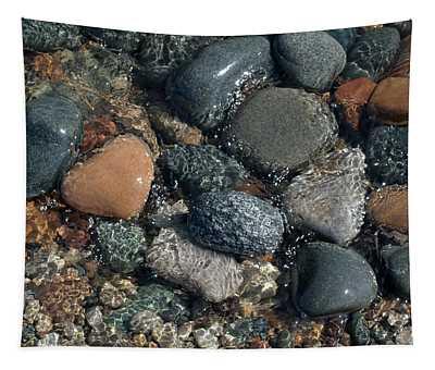 Shining Beach Stones Tapestry