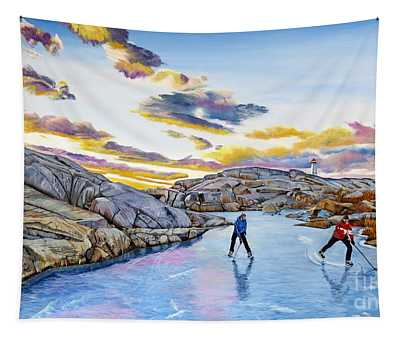 Shinny At Rock Pool Pond Tapestry