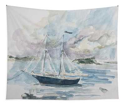 Ship Sketch Tapestry