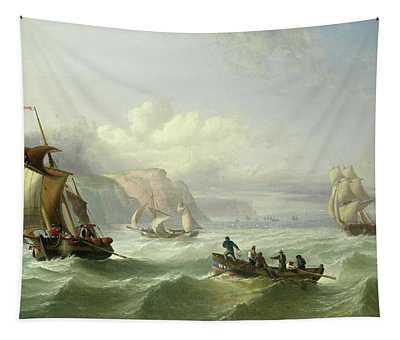 Shipping Off The Yorkshire Coast Tapestry