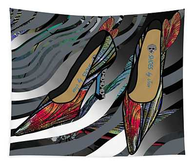 Shoes By Joan - Dragon Fly Wing Pumps Tapestry
