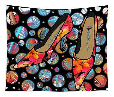 Shoes By Joan - Frangipani Pattern Pumps Tapestry