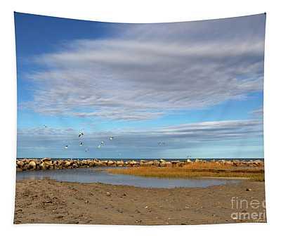 Shoreside Serenity Cape Cod Tapestry