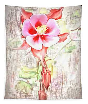 Showy Aqualigia Flower Tapestry