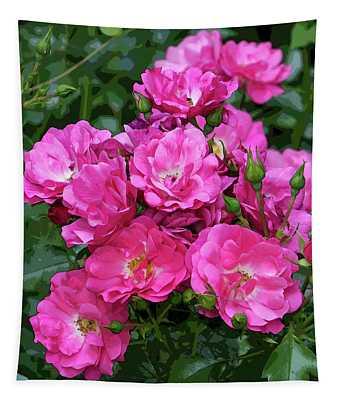 Shrub Rose Stylized Tapestry