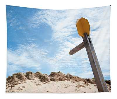 Signpost Through The Dunes Tapestry