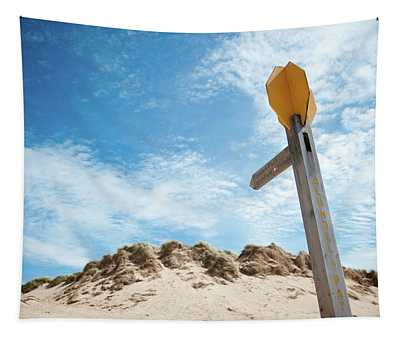 Signpost Through The Dunes II Tapestry