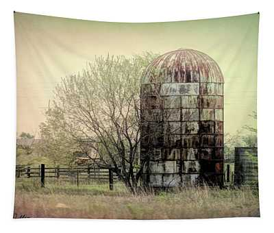 Silo On A Farm Tapestry