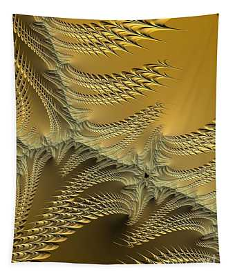 Silver And Gold Sunshine On The Beach Fractal Abstract Tapestry