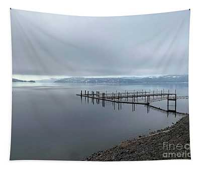 Tapestry featuring the photograph Silver Beach Marina by Matthew Nelson