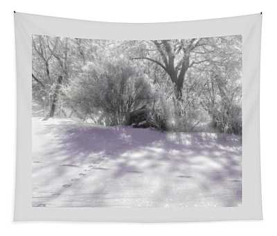 Silver Snow Tapestry