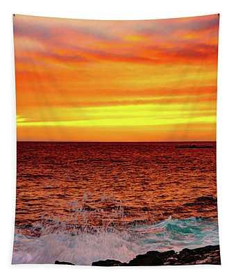 Simple Warm Splash Tapestry