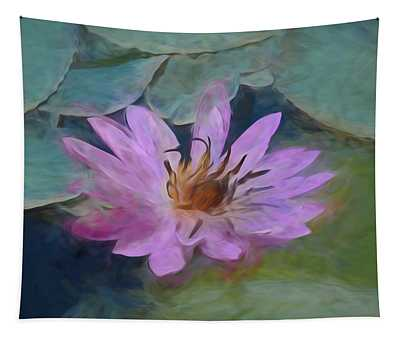 Single Pink Water Lily Tapestry