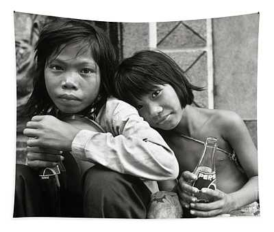 Sisters From Cambodia In Saigon Tapestry
