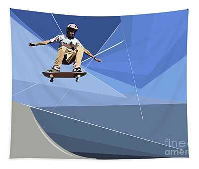 Skateboarder Tapestry