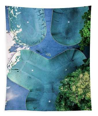 Skatepark - Aerial Photography Tapestry