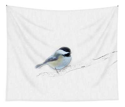 Sketchy Chickadee Tapestry