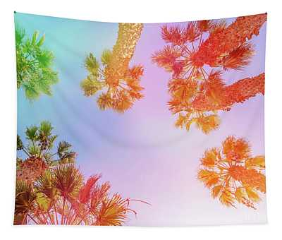 Sky And Palm Trees Tapestry