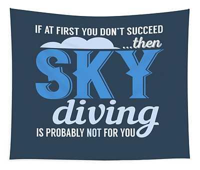 Sky Diving Tapestry