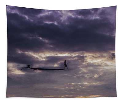 Sky Fisherman Tapestry