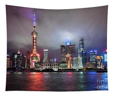 Skyline In Shanghai Tapestry