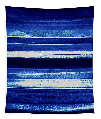 Skyscape-blue Abstract Tapestry