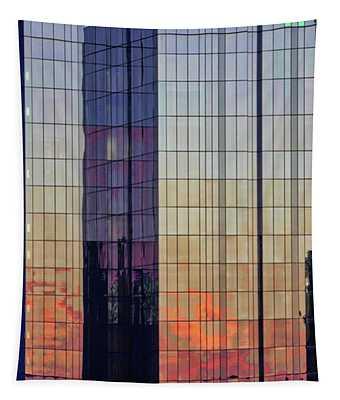 Skyscraper Sunset Tapestry
