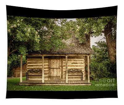 Small Log Cabin   Tapestry