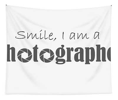 Smile At A Photographer Tapestry