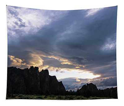 Smith Rock Lightshow Tapestry
