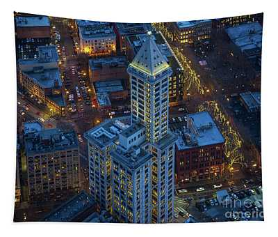 Smith Tower Blue Tapestry