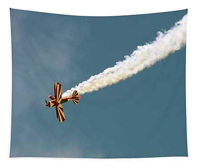 Smoking Bi-plane Tapestry