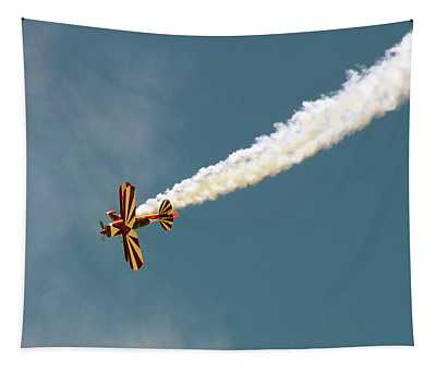 Smoking Bi-plane Tapestry