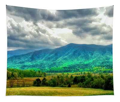 Smoky Mountain Farm Land Tapestry