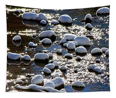 Snow Covered Rocks Tapestry