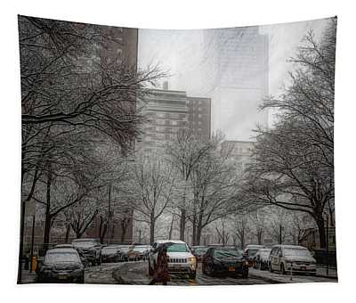 Snow In The City Tapestry