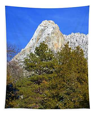 Snow On Lily Rock - Idyllwild Tapestry