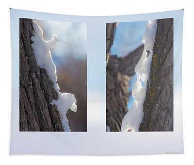 Snow On Poplar Tree Tapestry